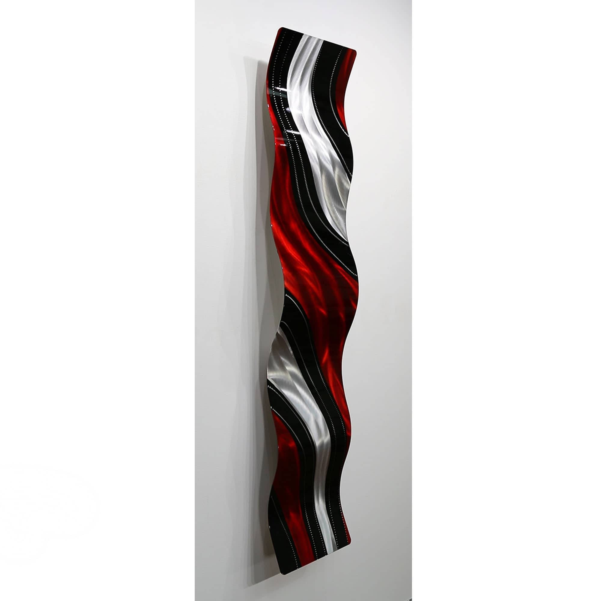 Statements2000 Red / Black Metal Wall Art Accent Wavejon Allen Throughout Most Up To Date Red And Black Metal Wall Art (View 15 of 20)