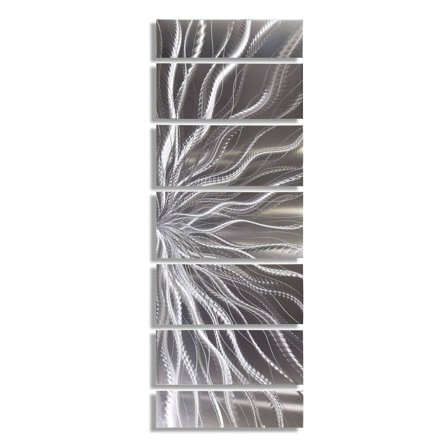 Statements2000 Silver Abstract Etched Metal Wall Art Sculpture For Most Popular Etched Metal Wall Art (View 15 of 20)