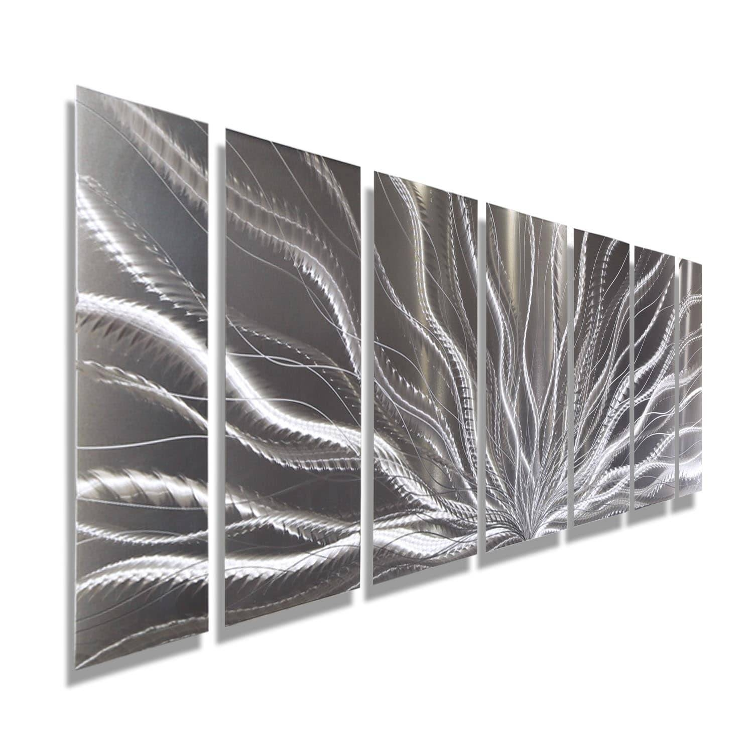 Statements2000 Silver Abstract Etched Metal Wall Art Sculpture For Newest Etched Metal Wall Art (View 14 of 20)
