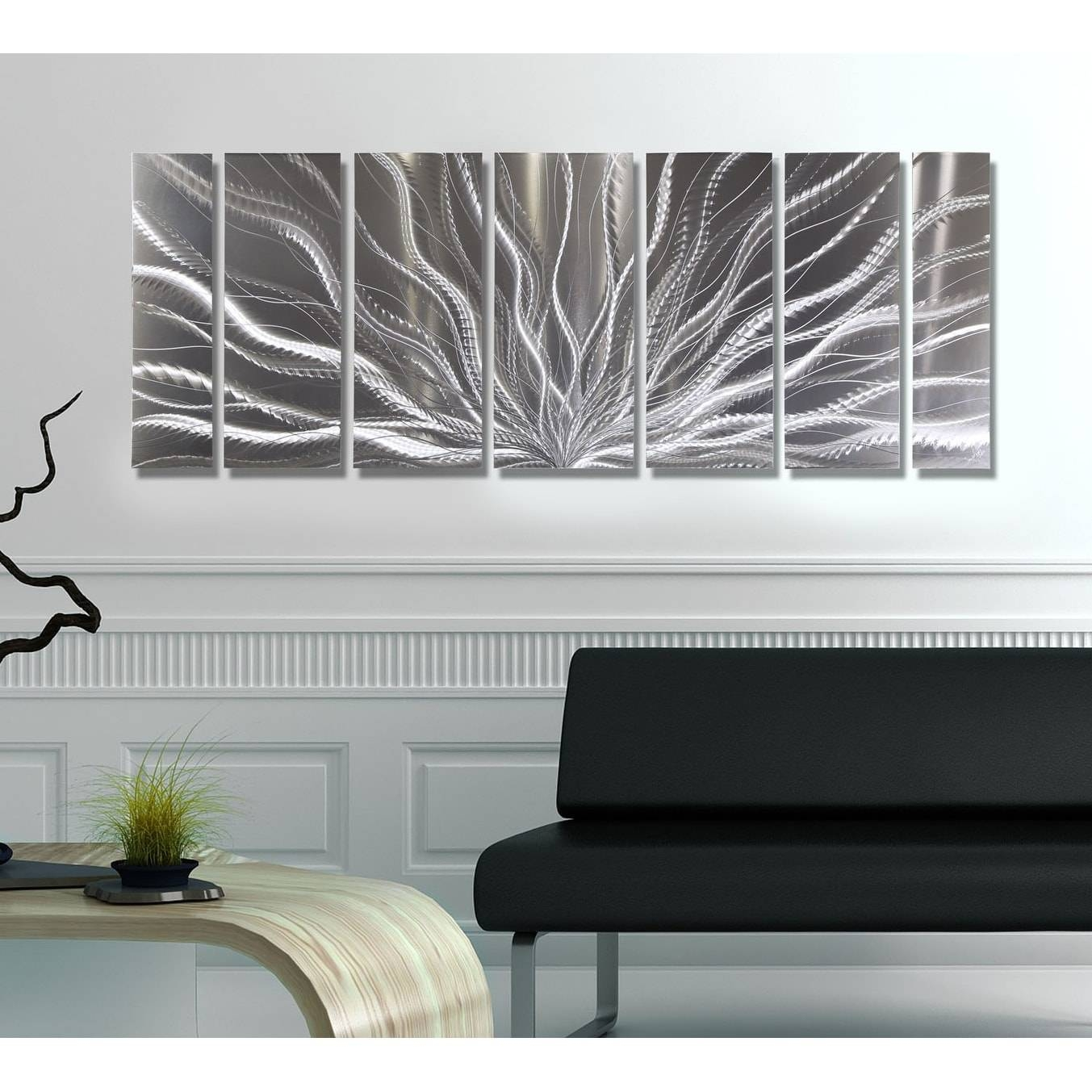 Statements2000 Silver Abstract Etched Metal Wall Art Sculpture Inside Recent Etched Metal Wall Art (View 15 of 20)