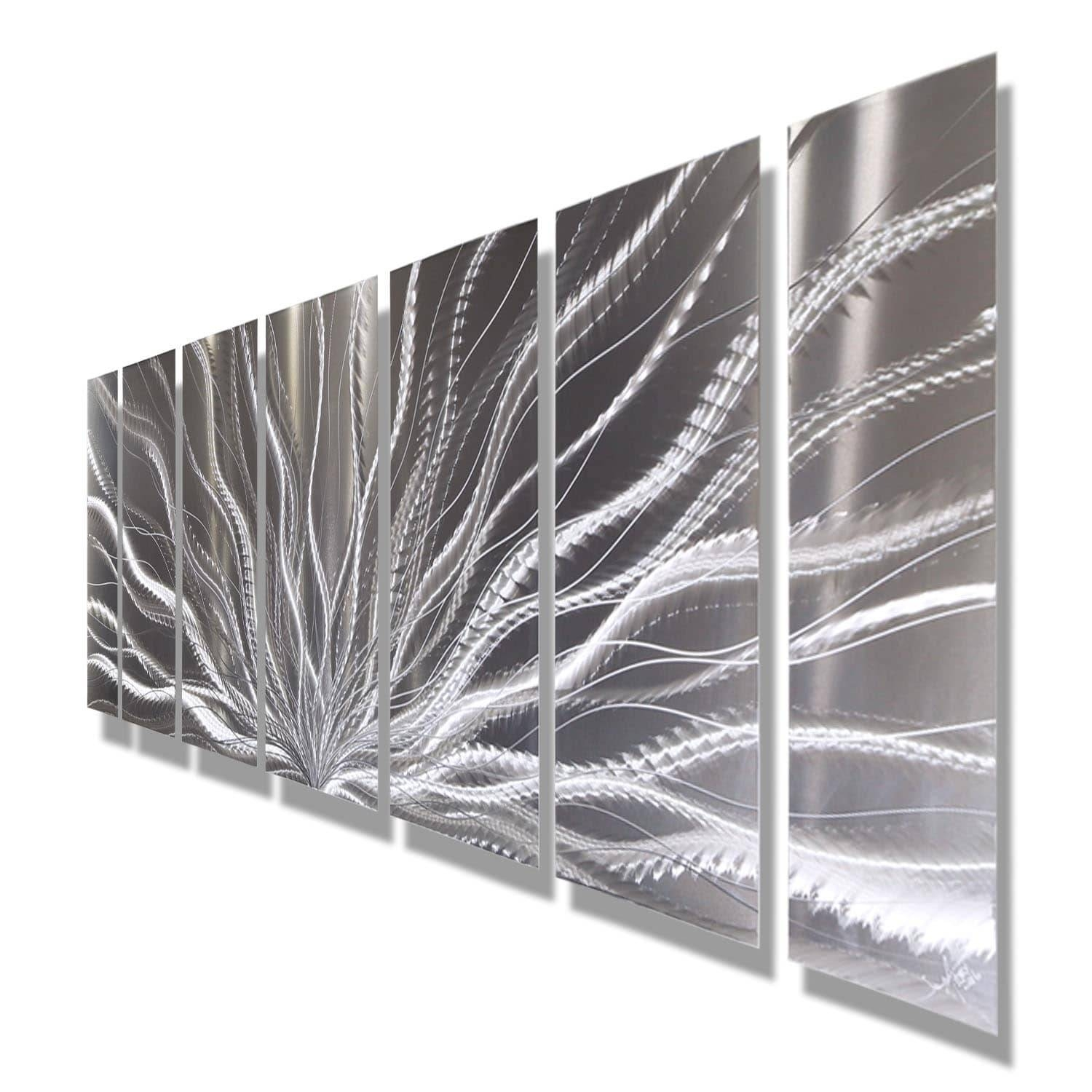 Statements2000 Silver Abstract Etched Metal Wall Art Sculpture Throughout Most Current Etched Metal Wall Art (View 6 of 20)