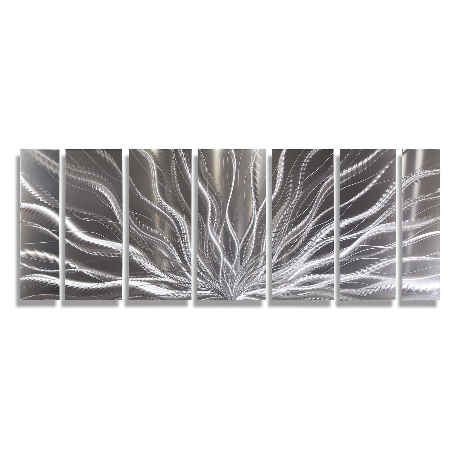 Statements2000 Silver Abstract Etched Metal Wall Art Sculpture With Most Popular Etched Metal Wall Art (View 9 of 20)