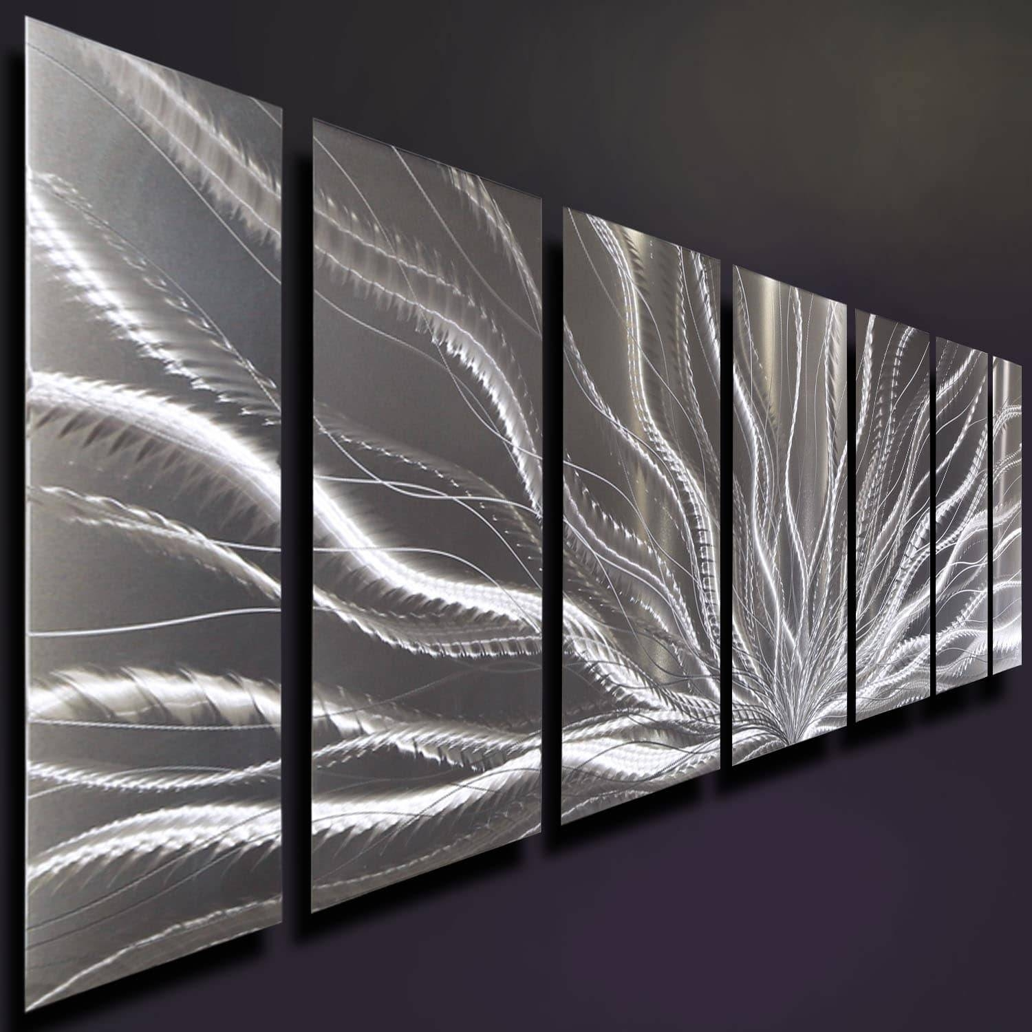 Statements2000 Silver Abstract Etched Metal Wall Art Sculpture With Regard To Best And Newest Etched Metal Wall Art (View 8 of 20)