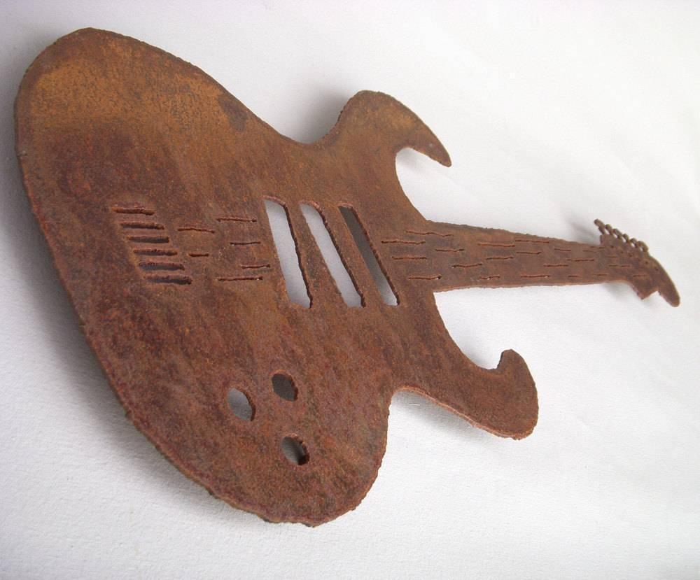 Steel Guitar Metal Wall Art Choose 24 36 Or 47 Long Inside Latest Musical Instruments Metal Wall Art (View 12 of 20)