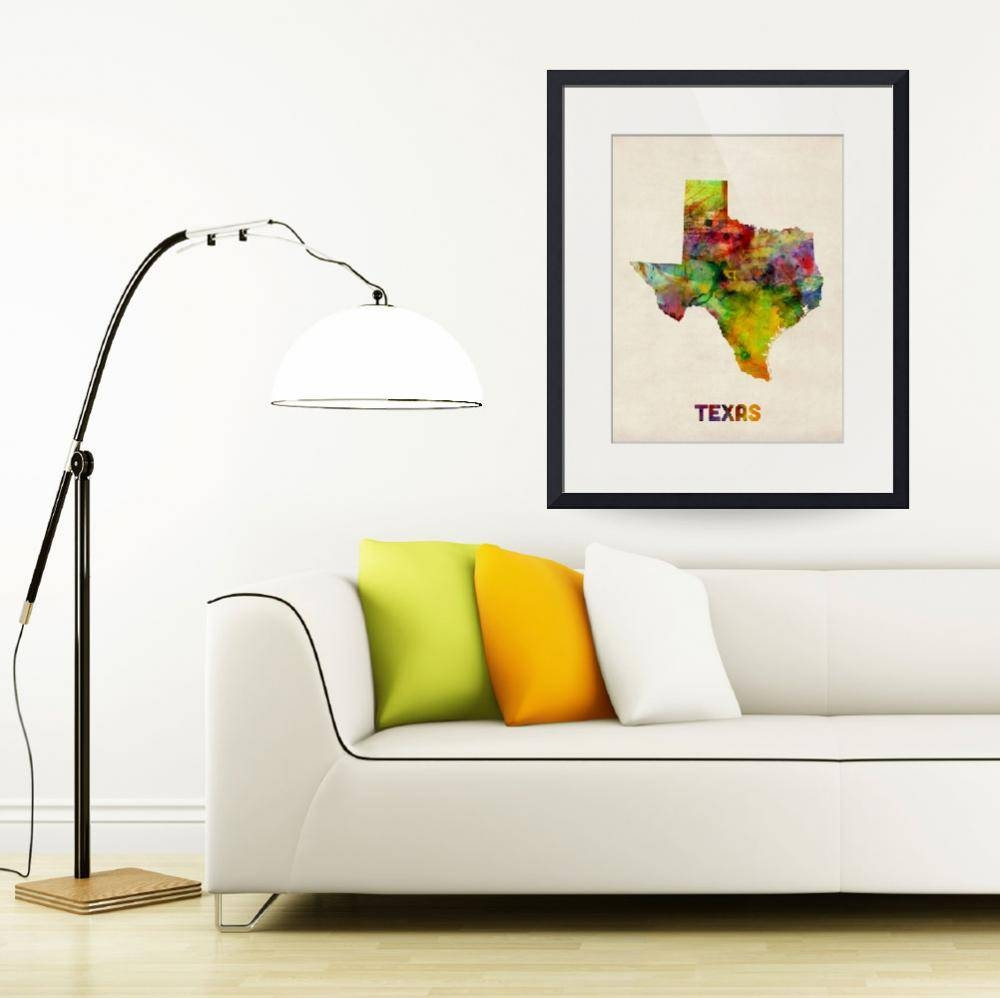 "Stunning ""houston Map"" Artwork For Sale On Fine Art Prints Regarding Newest Houston Map Wall Art (View 15 of 20)"