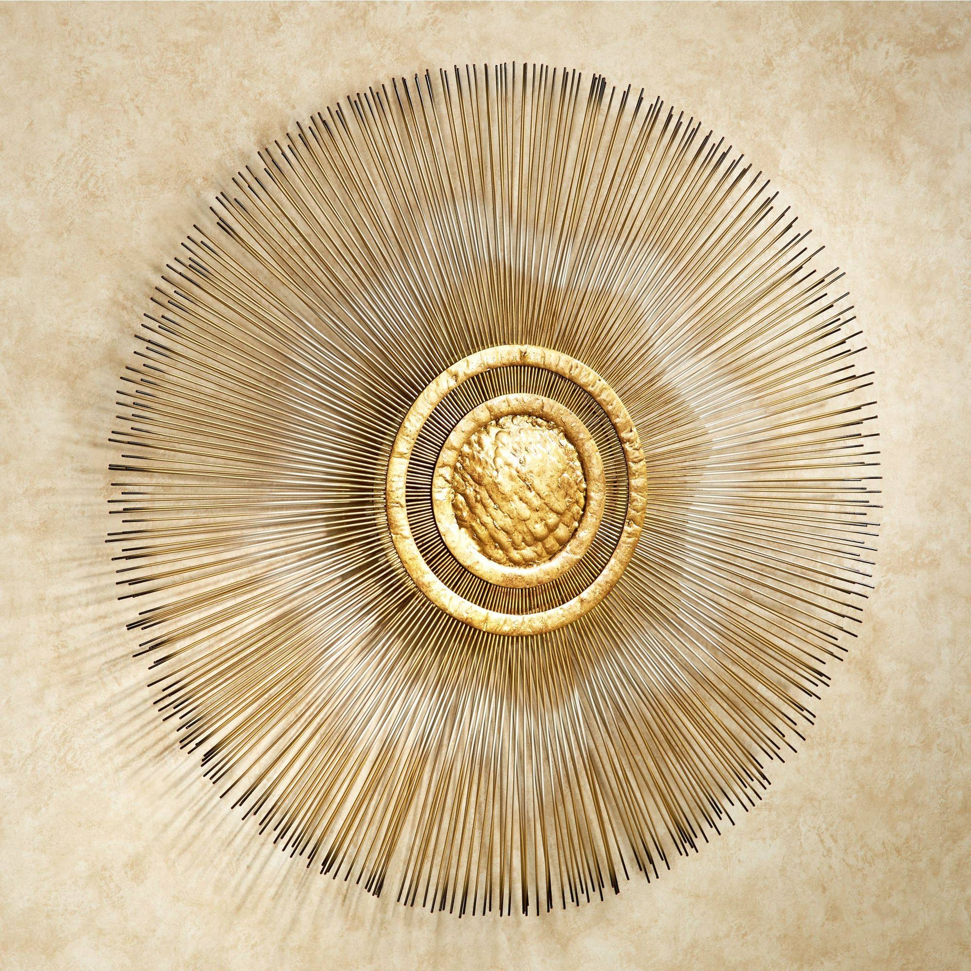 Sunburst Metal Wall Sculpturejasonw Studios With Most Popular Gold Metal Wall Art (Gallery 2 of 20)