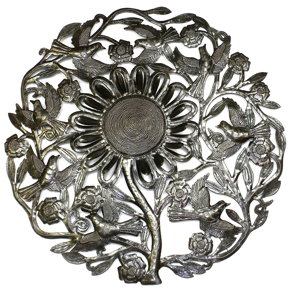 Sunflower Shining Handmade Metal Wall Art In Most Popular Handmade Metal Wall Art (View 18 of 20)