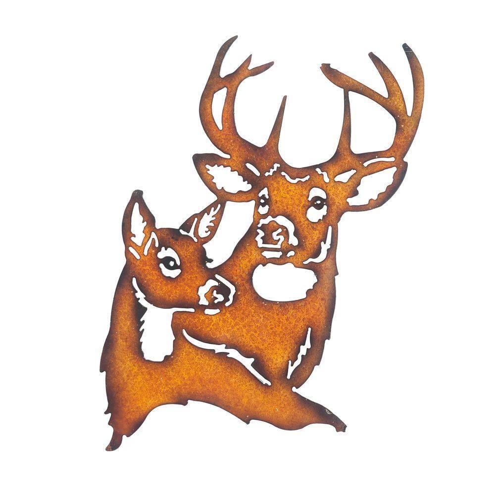 Sunjoy Deer Metal Outdoor Wall Art 110311024 – The Home Depot With Most Popular Deer Metal Wall Art (View 3 of 20)