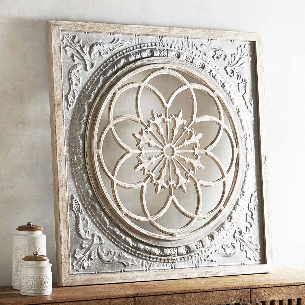 Surprising Ideas Medallion Wall Decor Tile Antique Black Embossed With Current Embossed Metal Wall Art (View 9 of 20)