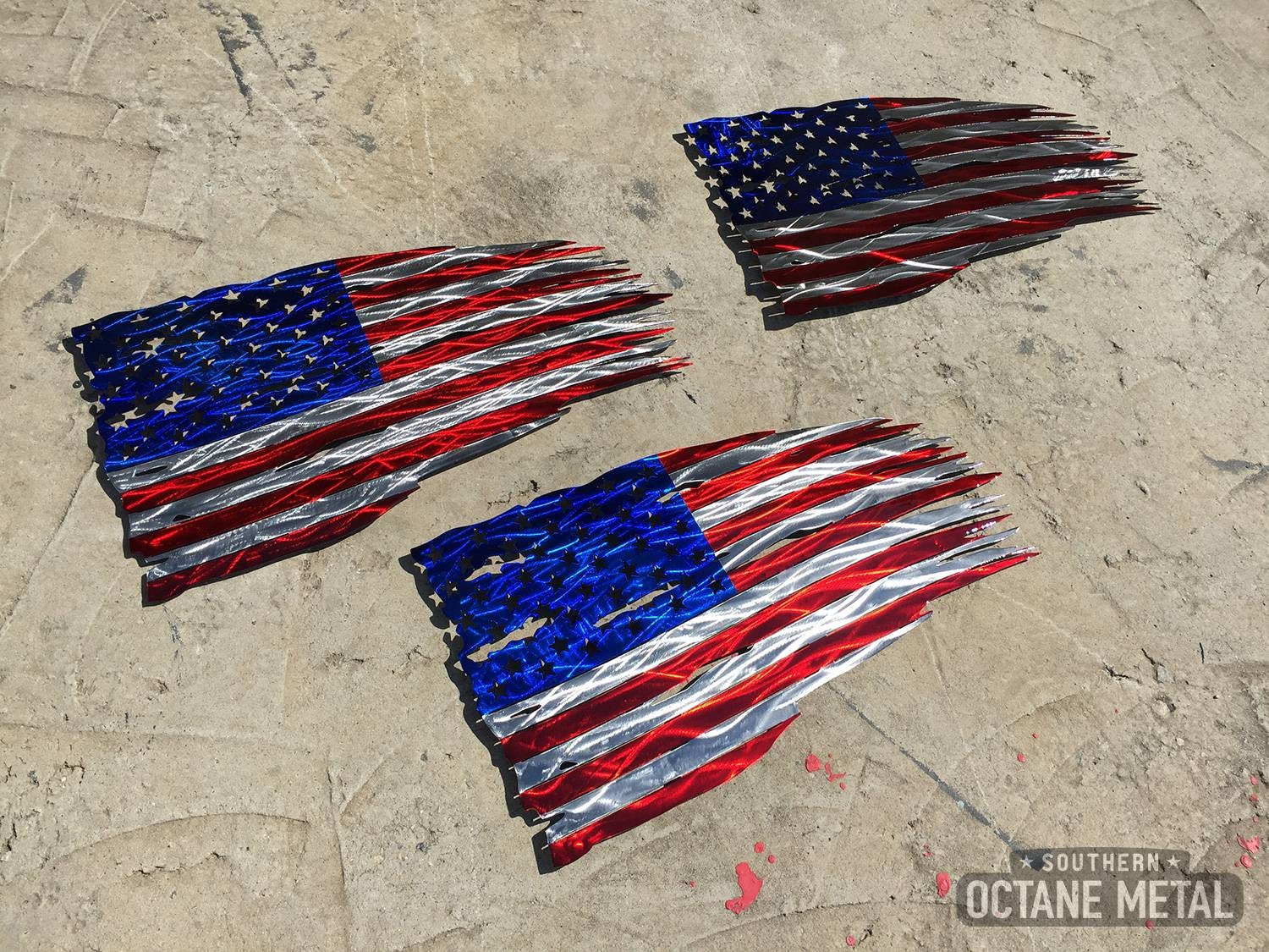 Tattered American Flag Metal Art – Southern Octane Metal Throughout Recent American Flag Metal Wall Art (View 8 of 20)