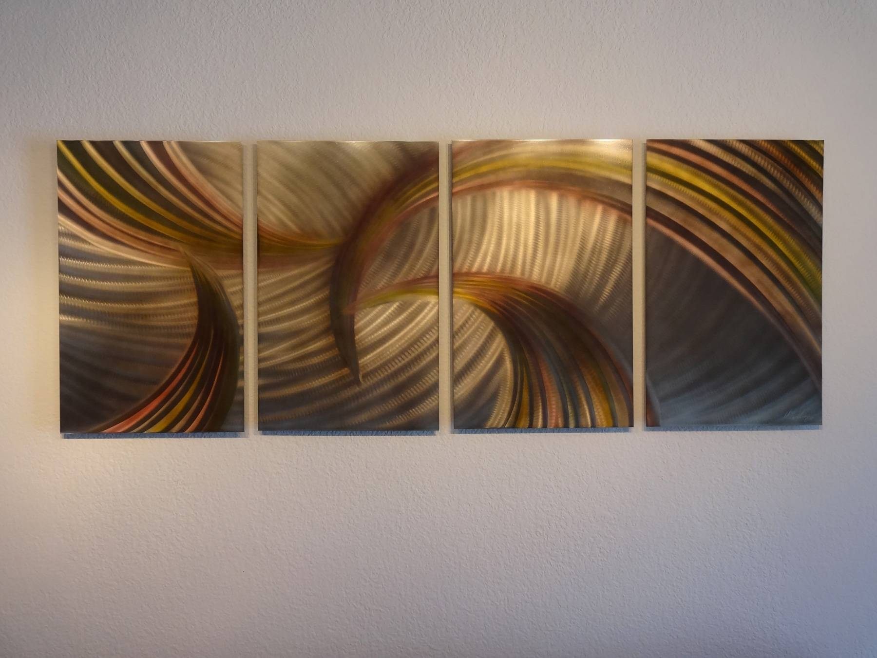 Tempest Bronze – Abstract Metal Wall Art Contemporary Modern Decor Pertaining To Most Current Bronze Metal Wall Art (View 4 of 20)