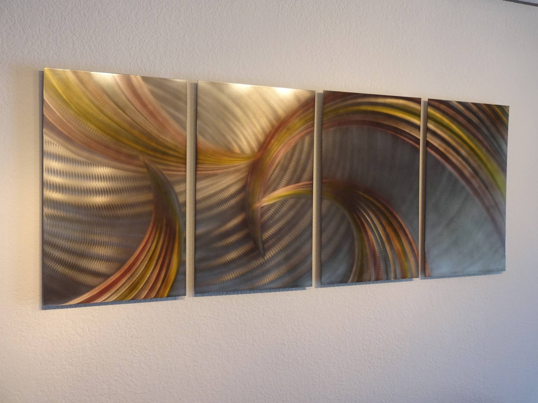 Tempest Bronze – Abstract Metal Wall Art Contemporary Modern Decor With Regard To Most Recently Released Bronze Metal Wall Art (View 6 of 20)