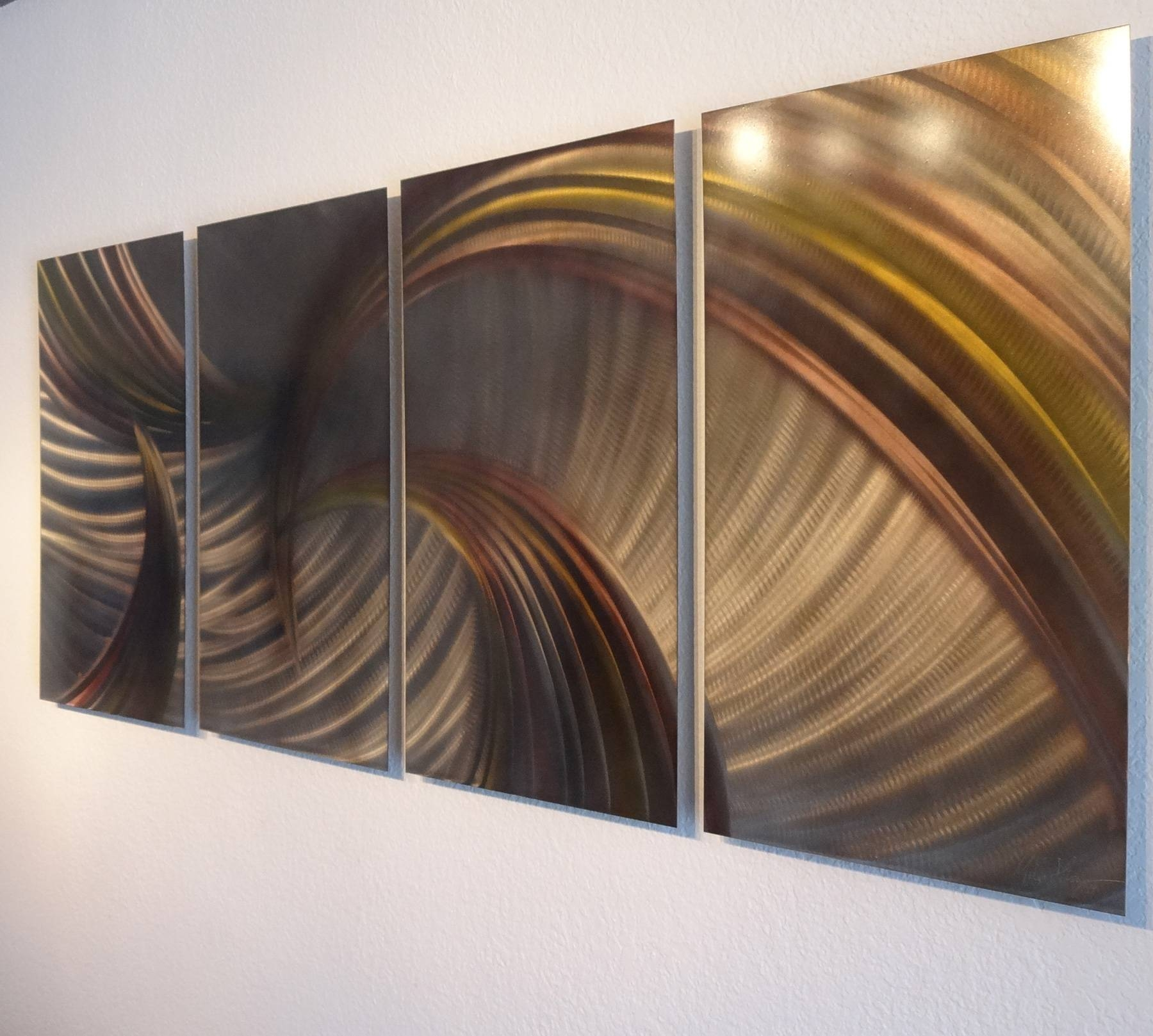 Tempest Bronze – Abstract Metal Wall Art Contemporary Modern Decor Within Most Recent Bronze Metal Wall Art (View 5 of 20)