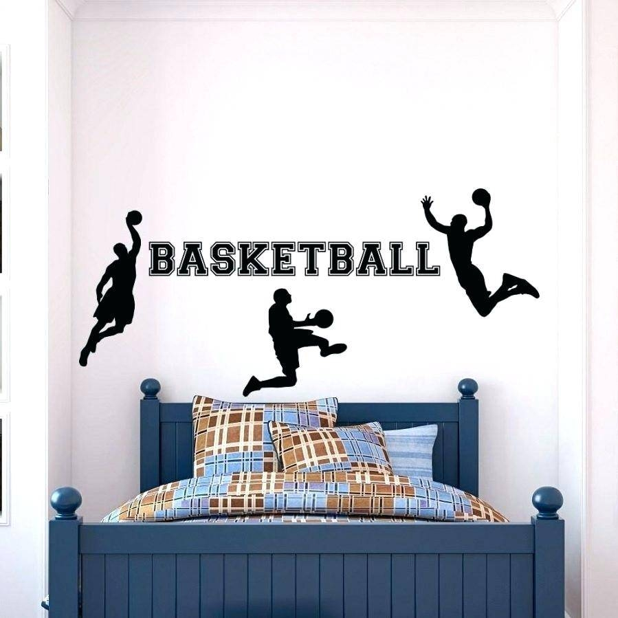 Tennis Wall Decals Basketball Wall Image For 5 Piece Canvas Art Within Most Recent Sports Metal Wall Art (View 9 of 20)