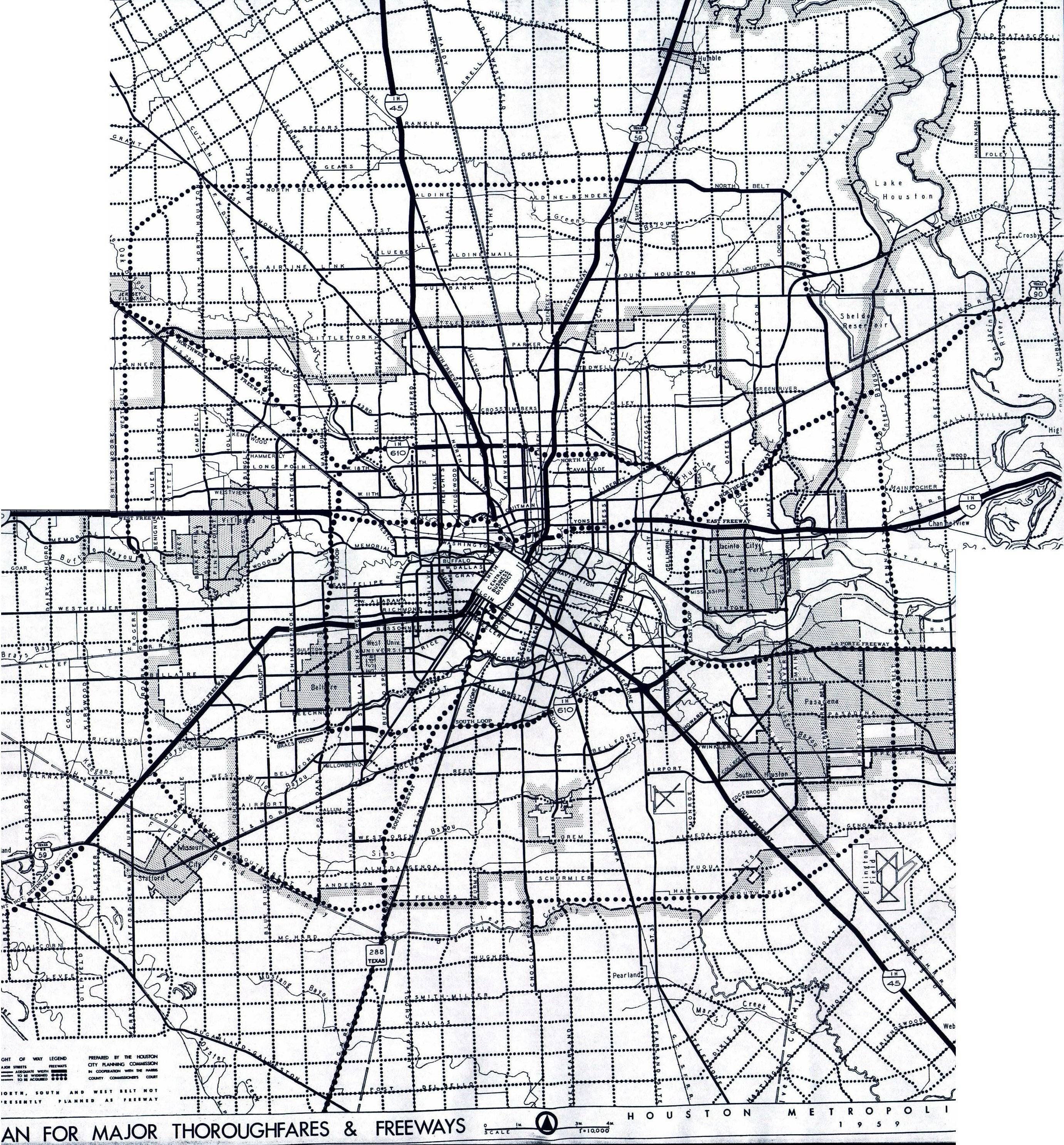 Texasfreeway > Houston > Freeway Planning Maps Pertaining To Most Recent Houston Map Wall Art (View 20 of 20)