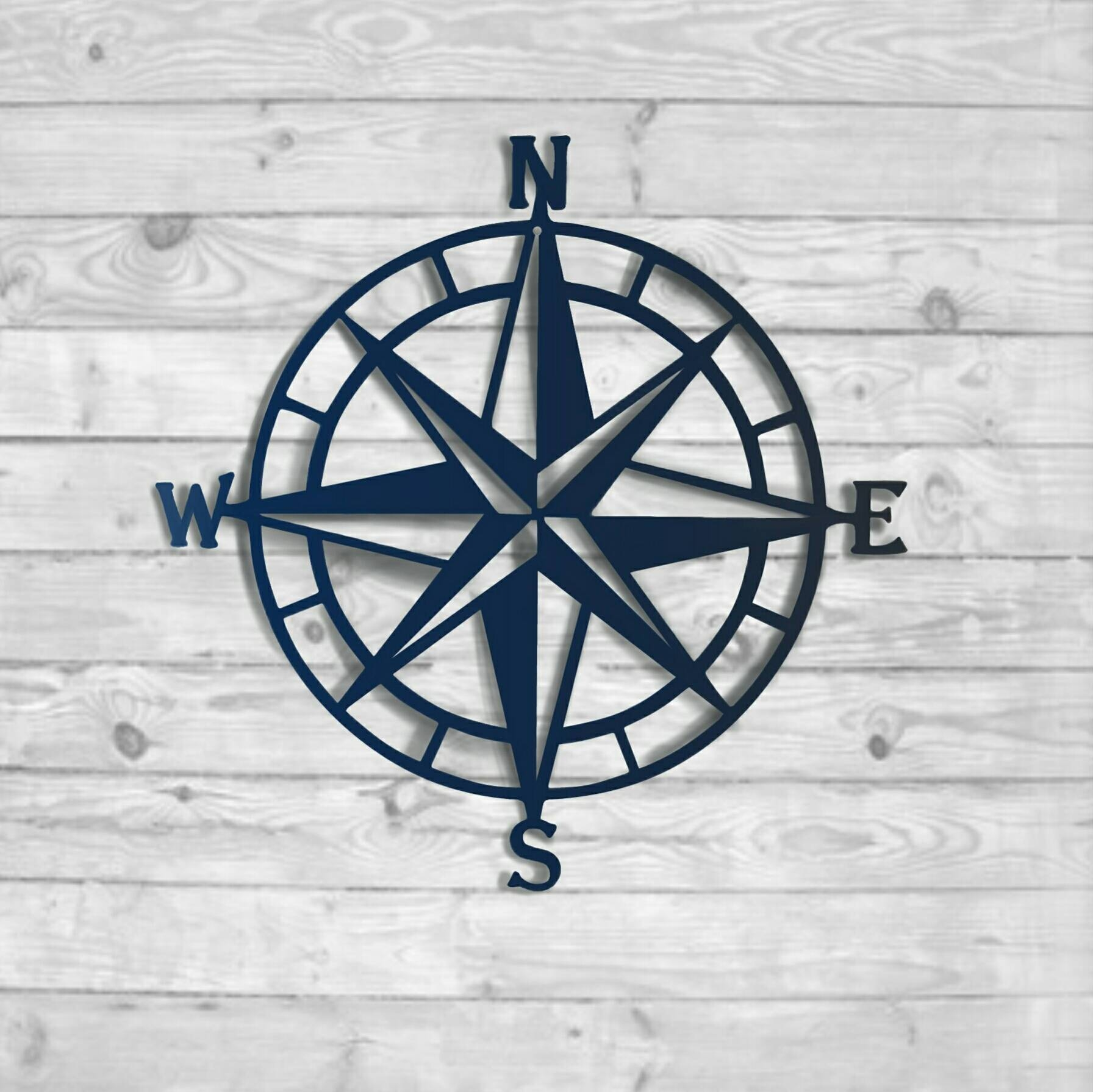 Textured Navy: Nautical Compass – Nautical Wall Art – Metal Wall Intended For 2018 Nautical Metal Wall Art (View 15 of 20)