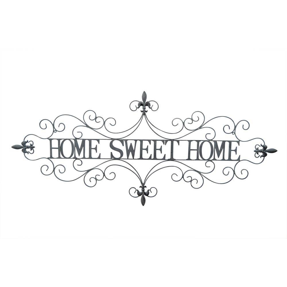 Three Hands Metal Sweet Home Wall Decor 70996 – The Home Depot With Regard To Newest Home Sweet Home Metal Wall Art (View 13 of 20)