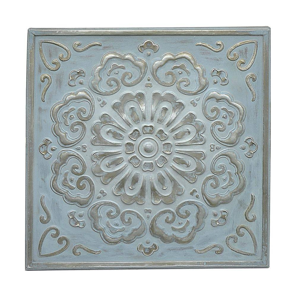 Three Hands Square Medallion Wall Art 57523 – The Home Depot In 2018 Square Metal Wall Art (View 12 of 20)