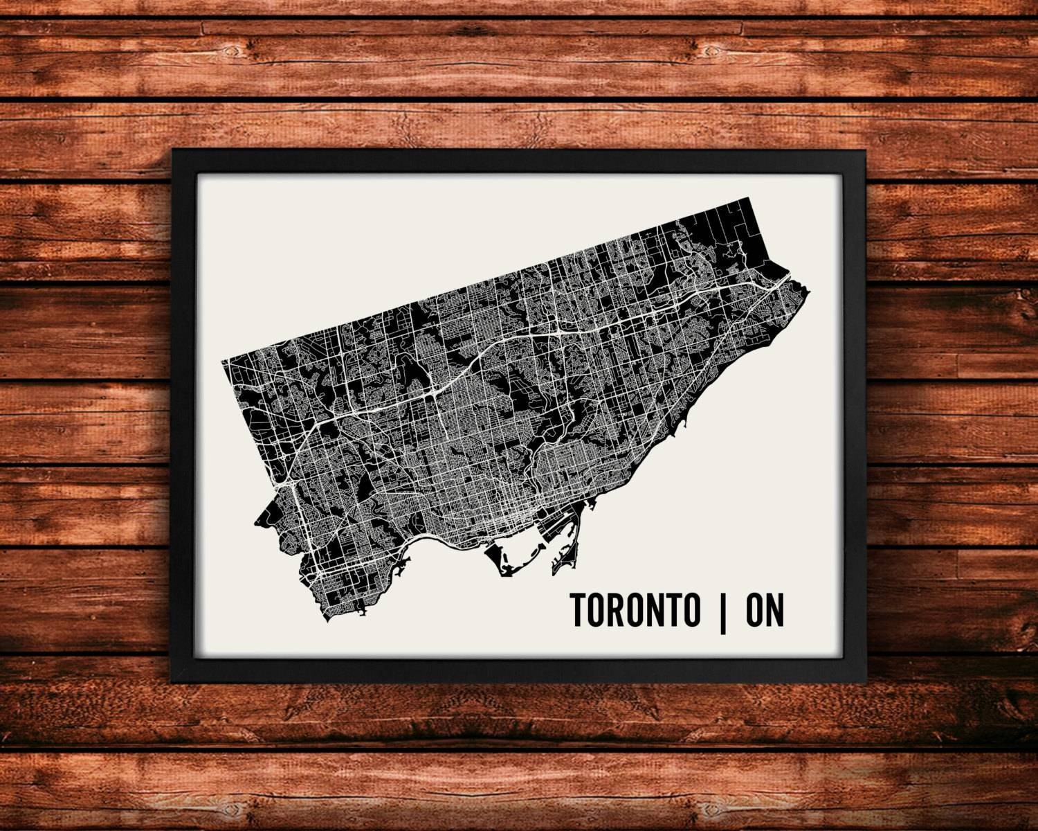 Toronto Map Art Print Toronto Print Toronto Art Print For Most Recently Released Toronto Map Wall Art (Gallery 7 of 20)