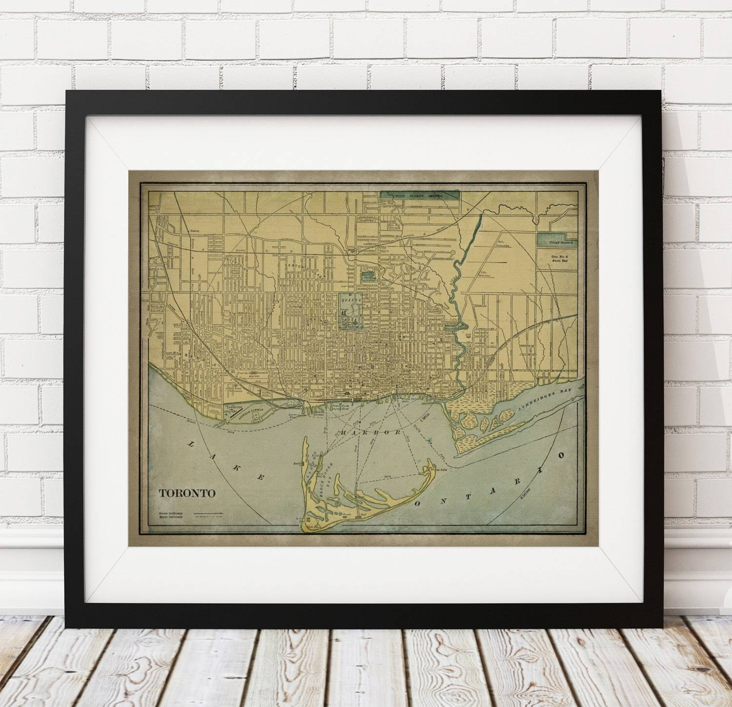 Toronto Map Print, Vintage Map Art, Antique Map, Canadian Wall Art In Most Recent Toronto Map Wall Art (View 3 of 20)