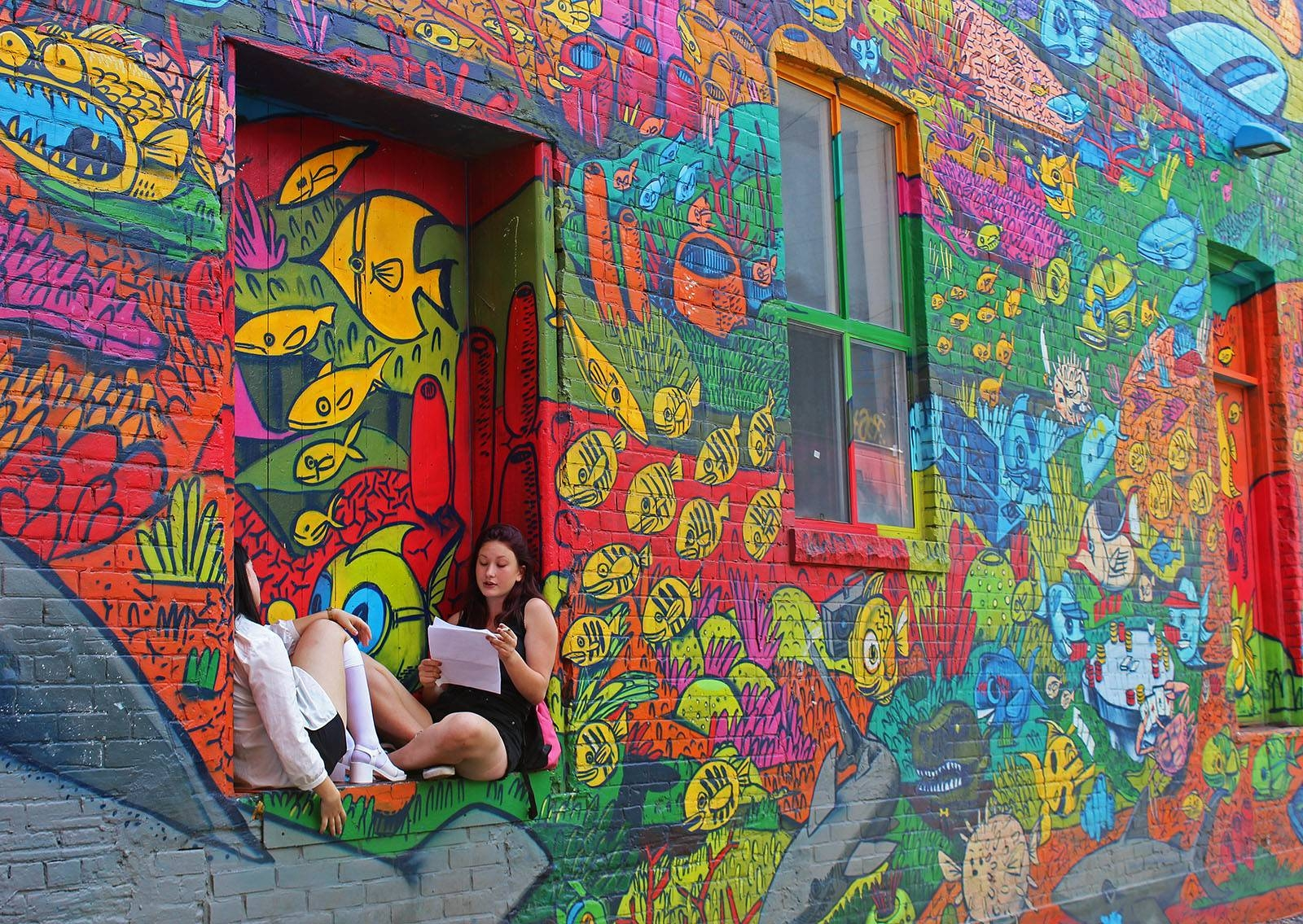 Toronto Street Art In Graffiti Alley – Justin Plus Lauren With Regard To Recent Map Wall Art Toronto (View 19 of 20)
