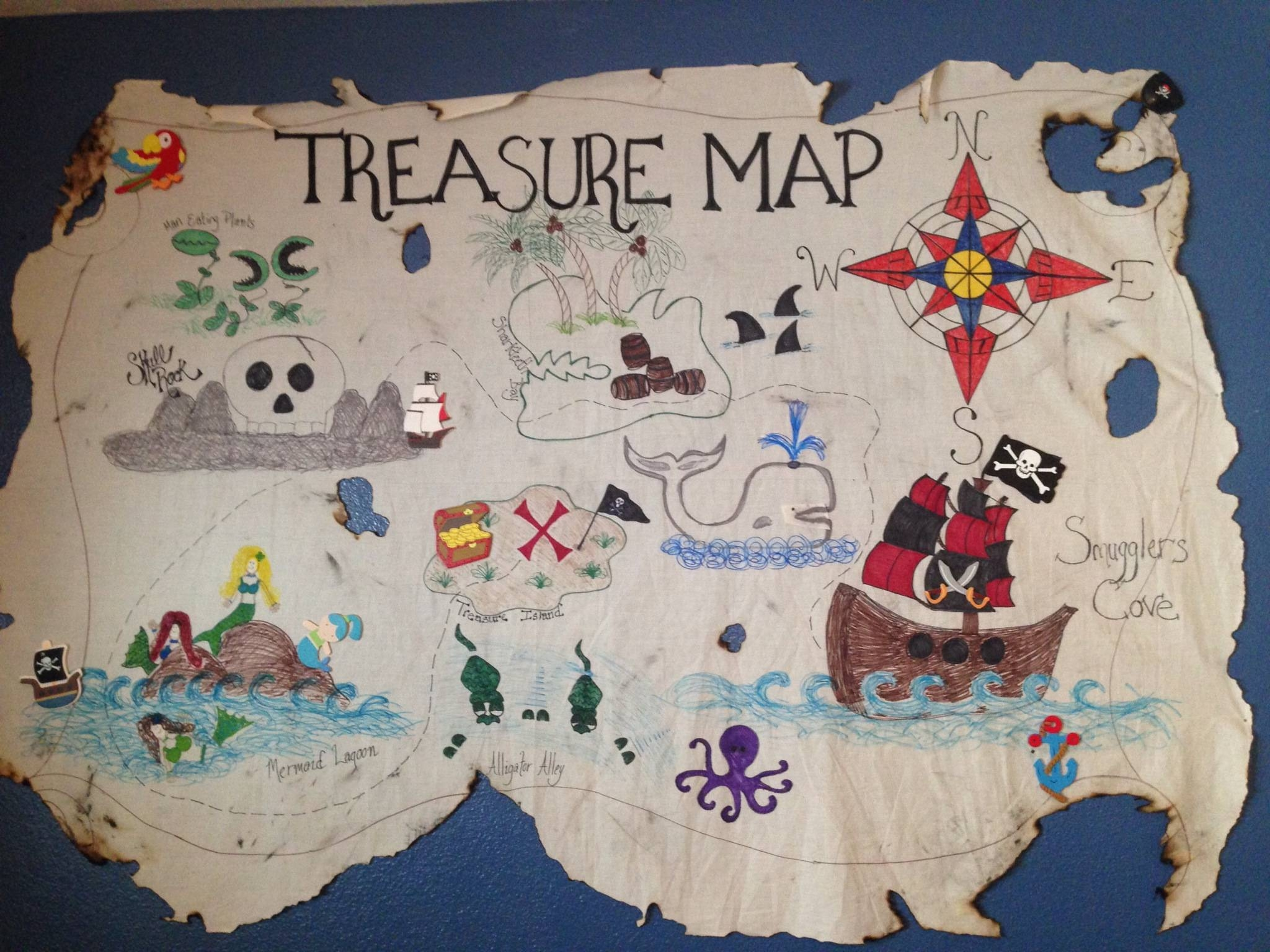 Treasure Map | The Multitasking Mommy Intended For Latest Treasure Map Wall Art (Gallery 17 of 20)