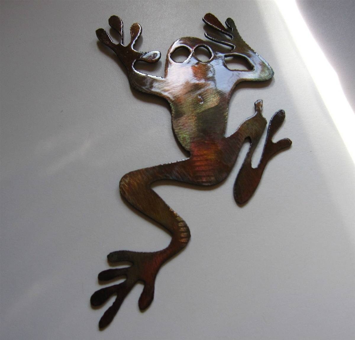 Tree Climbing Frog Metal Art With Latest Plasma Cut Metal Wall Art (Gallery 5 of 20)