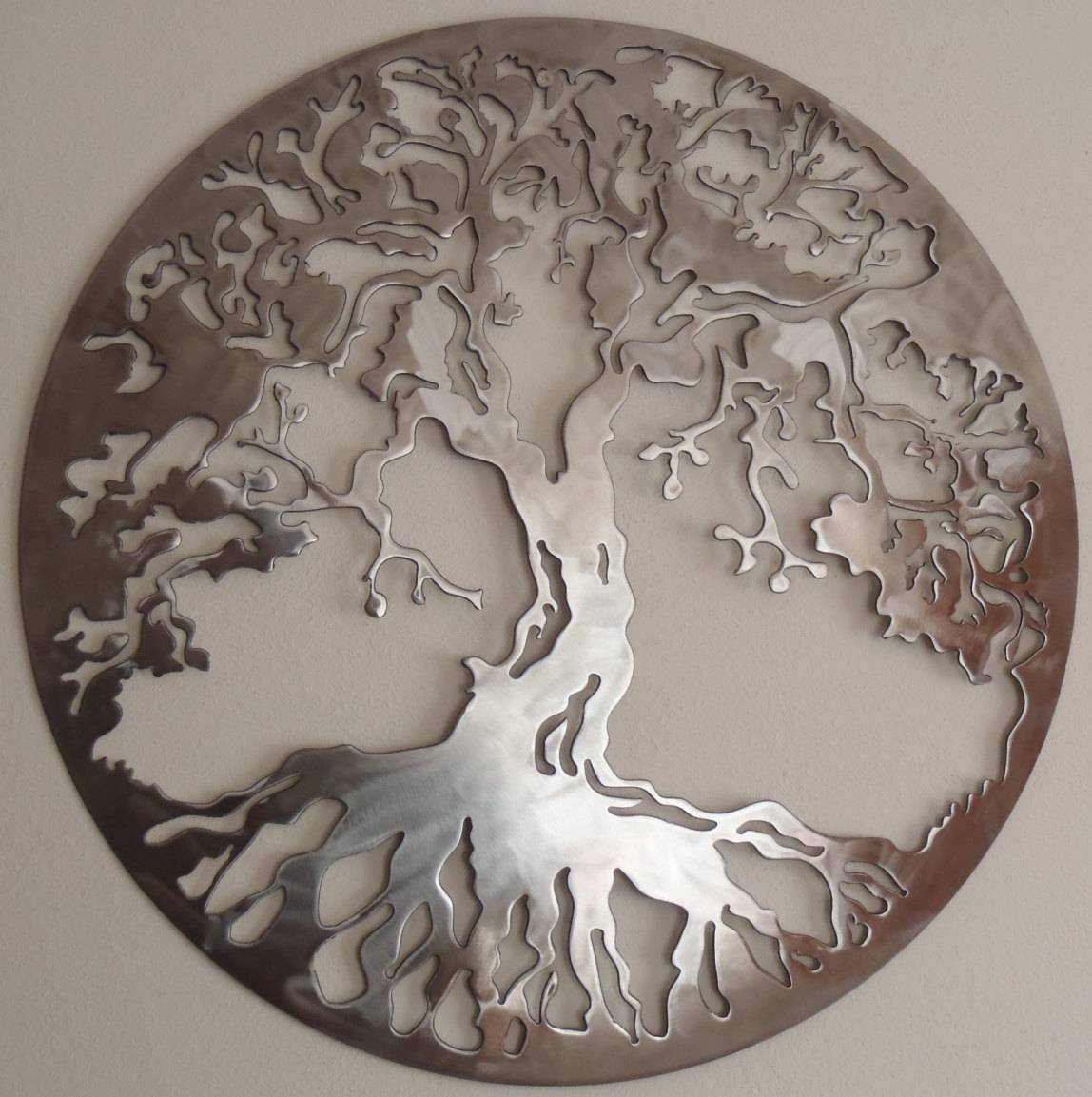 Tree Of Life Metal Art Wall Decor In Most Recent Large Tree Of Life Metal Wall Art (View 13 of 20)