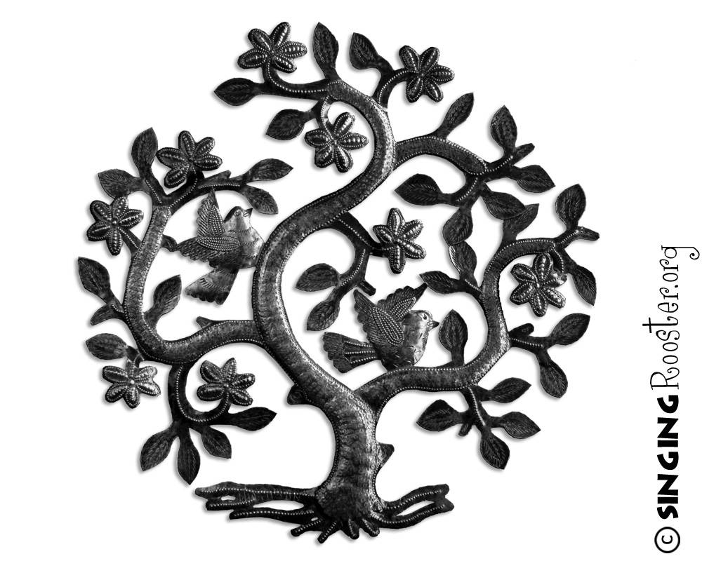 Tree Of Life, Metal Wall Art, Haiti Pertaining To Most Current Tree Of Life Metal Wall Art (View 20 of 20)
