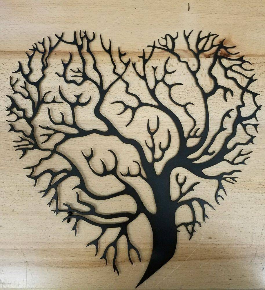 Tree Of Life Metal Wall Art Plasma Cut Decor Gift Set Idea | Ebay Intended For Most Recently Released Tree Of Life Metal Wall Art (View 17 of 20)