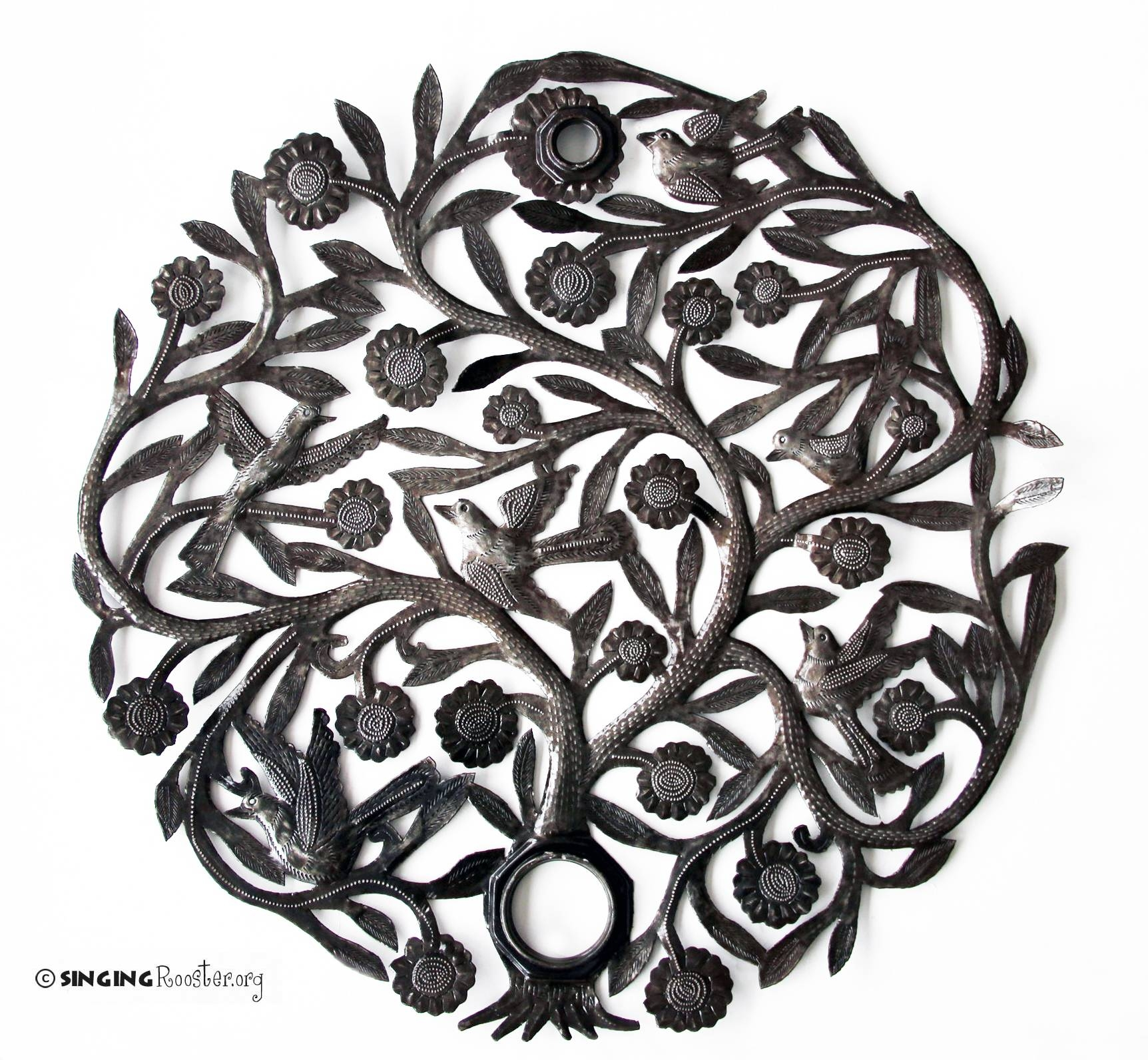 Tree Of Life Metal Wall Art, Recycled Oil Drum; Handmade In Haiti Throughout Most Recent Haitian Metal Wall Art (View 17 of 20)