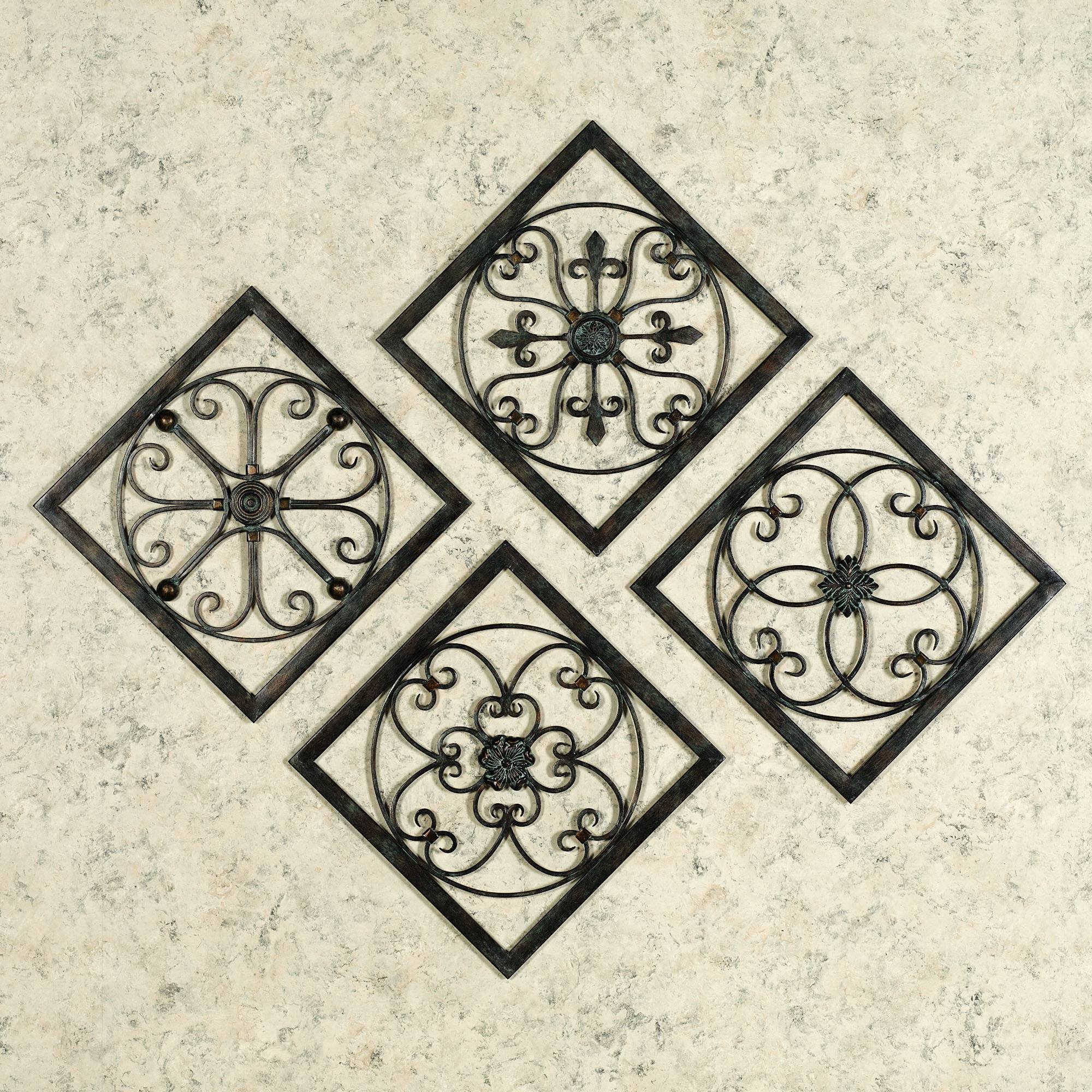Trendy Square Metal Wall Art Multi Panel Metal Wall Design Ideas Intended For Most Popular Square Metal Wall Art (View 11 of 20)