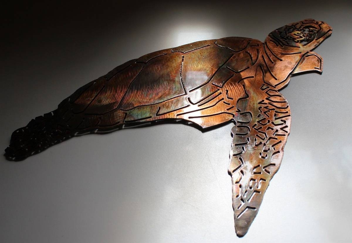 Turtle, Turtle Metal Art, Wall Turtle, Sea Turtle Within Latest Sea Turtle Metal Wall Art (View 14 of 20)