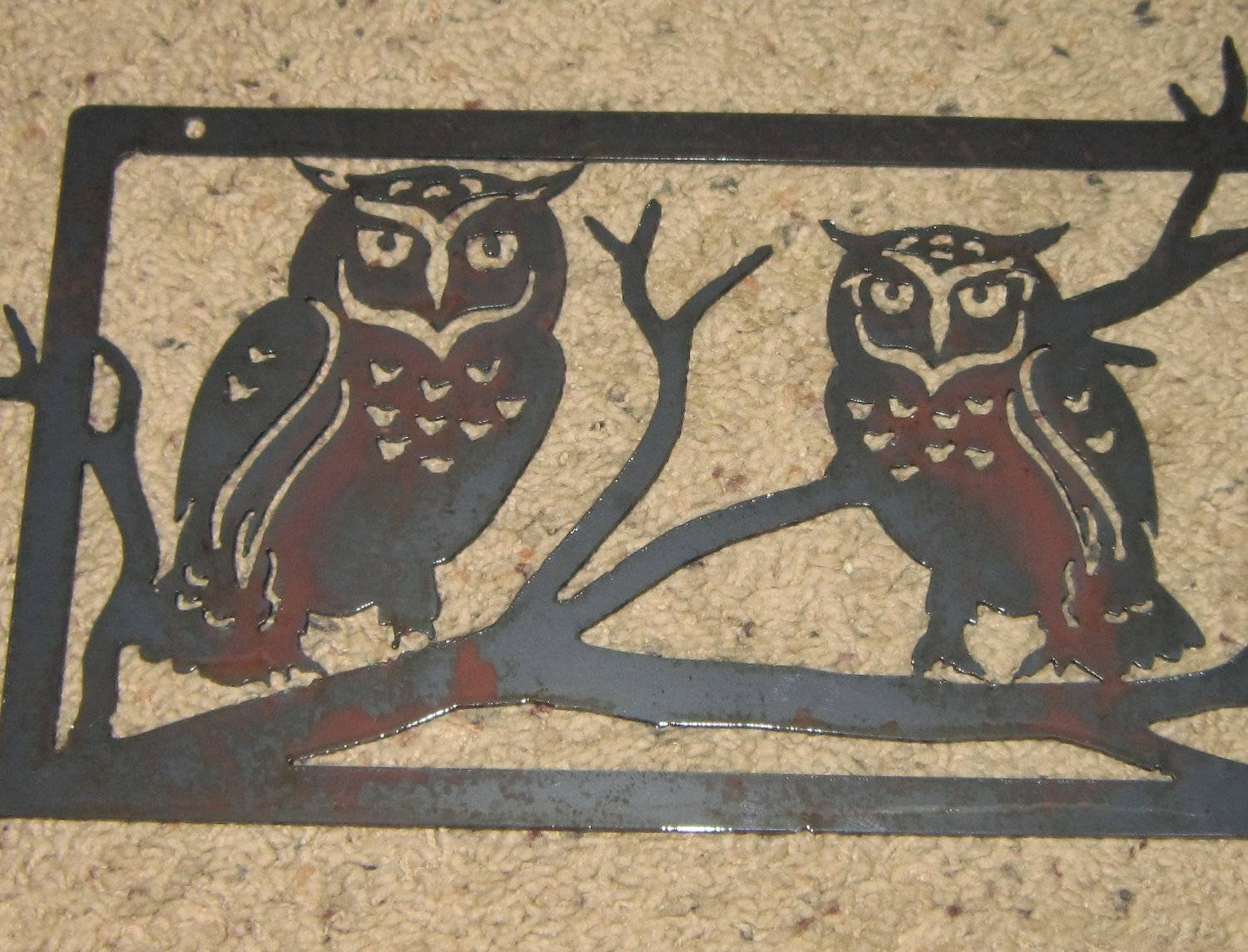 Featured Photo of Owls Metal Wall Art