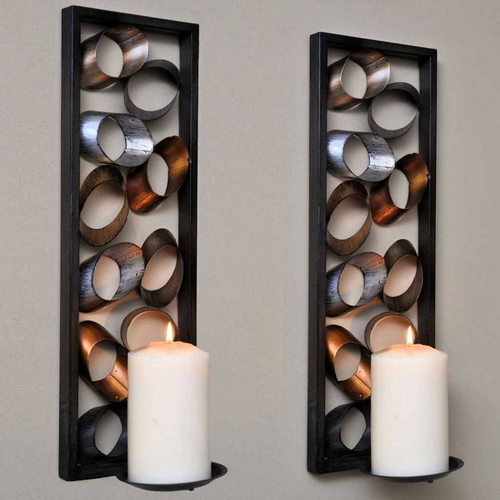 Uncategorized : Brass Wall Candle Holders Black Wall Candle Pertaining To Recent Metal Wall Art With Candles (Gallery 16 of 20)