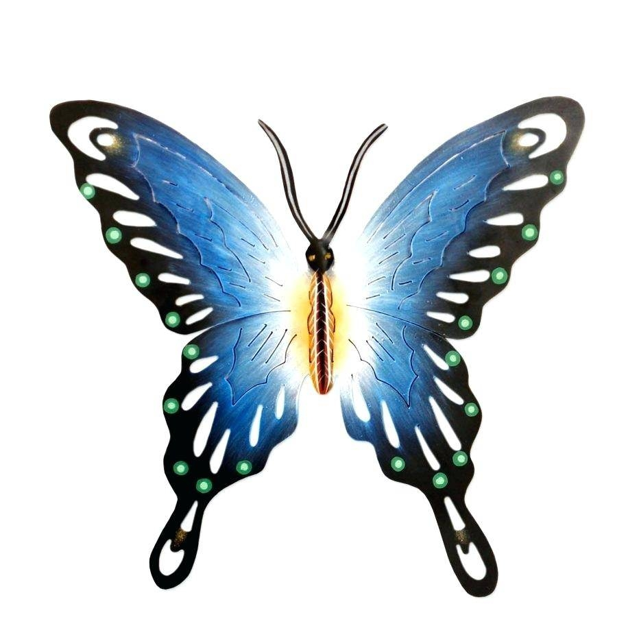 Unique Metal Wall Art Decor Butterfly Garden Sculpture Wonderful In Current Butterfly Garden Metal Wall Art (View 10 of 20)