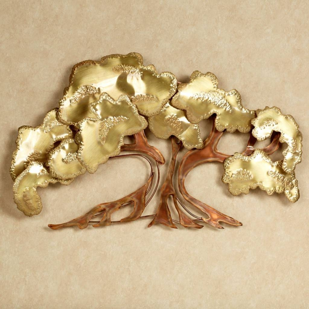 Unique Tree Of Life Metal Wall Art Decor Sculpture Desaign With throughout 2017 Metal Wall Art Trees And Leaves