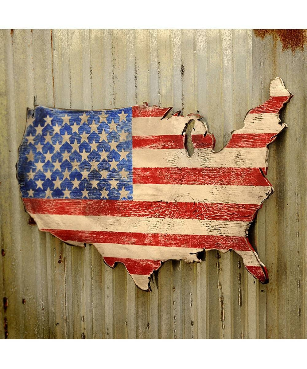 United States Map Decor United States Map Canvas Wall Art United Within Current Map Wall Artwork (View 13 of 20)