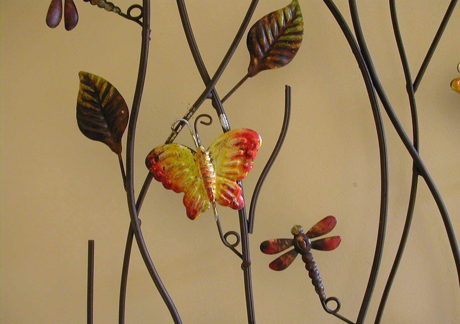 Using Wall Art Like Metal Wall Art For Your Better Wall Look intended for Current Butterflies Metal Wall Art