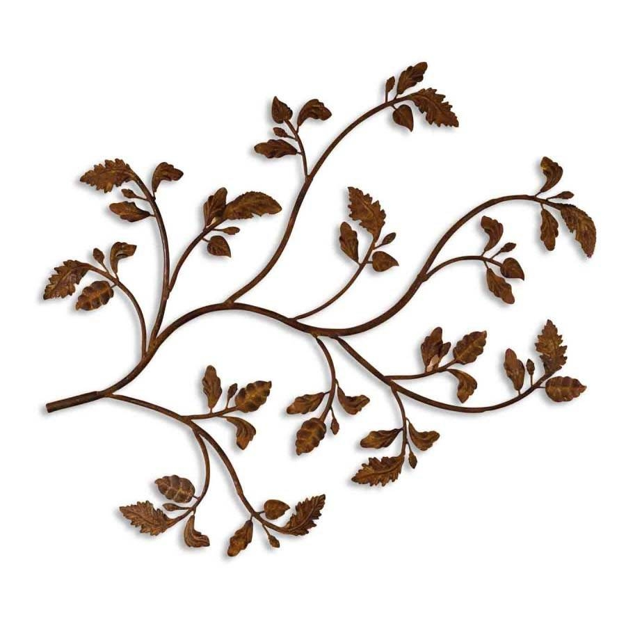 Uttermost 13435 Rusty Branch Metal Wall Art In Distressed Brown throughout Latest Brown Metal Wall Art
