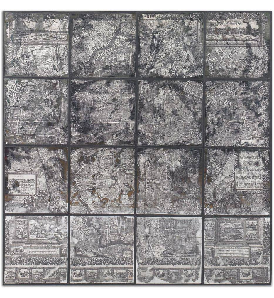 Uttermost - 55005 - Antique Street Map Wall Art | Lamps within Current Street Map Wall Art