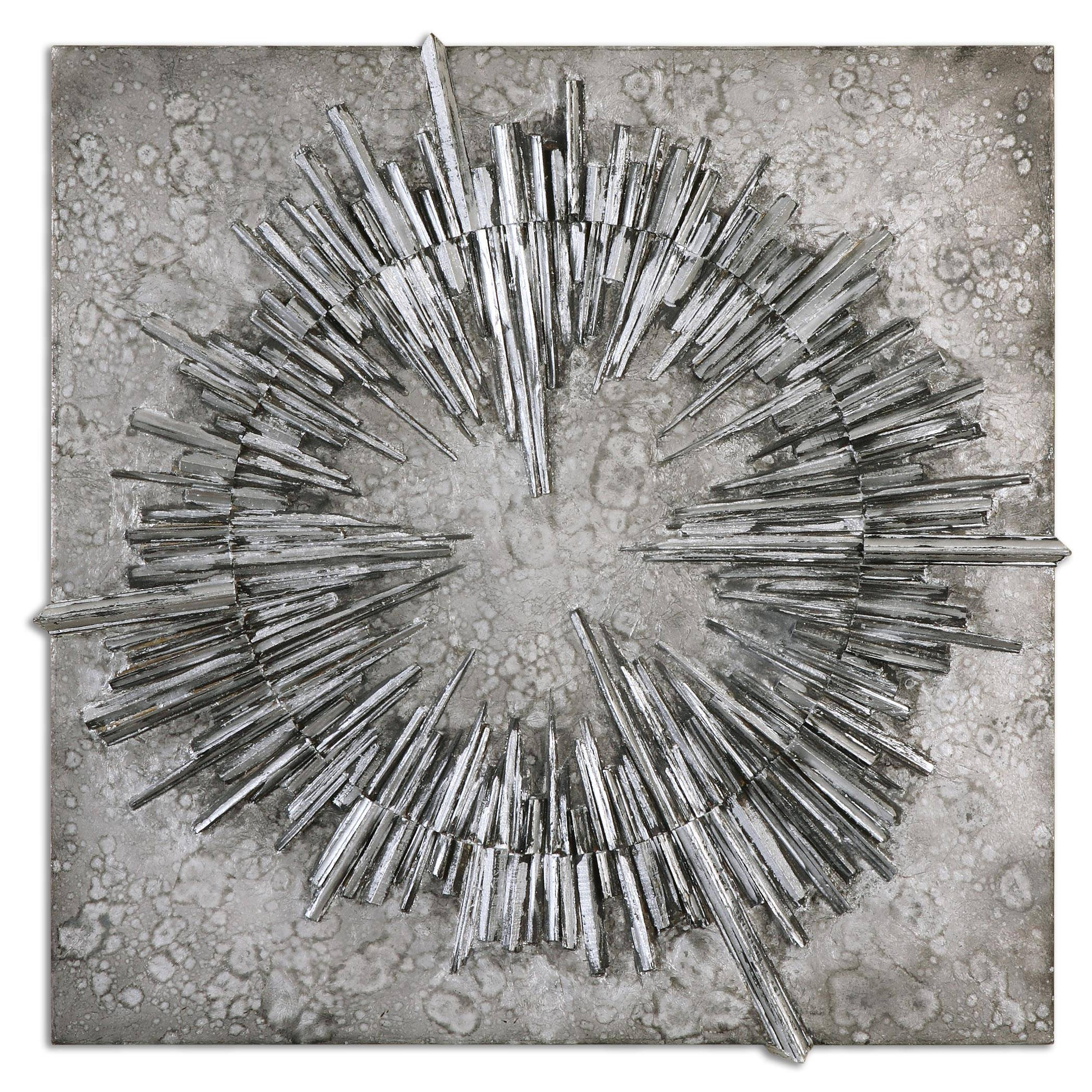 Uttermost Alternative Wall Decor Nebulus Silver Wall Art | Wayside Intended For 2018 Black And Silver Metal Wall Art (View 12 of 20)