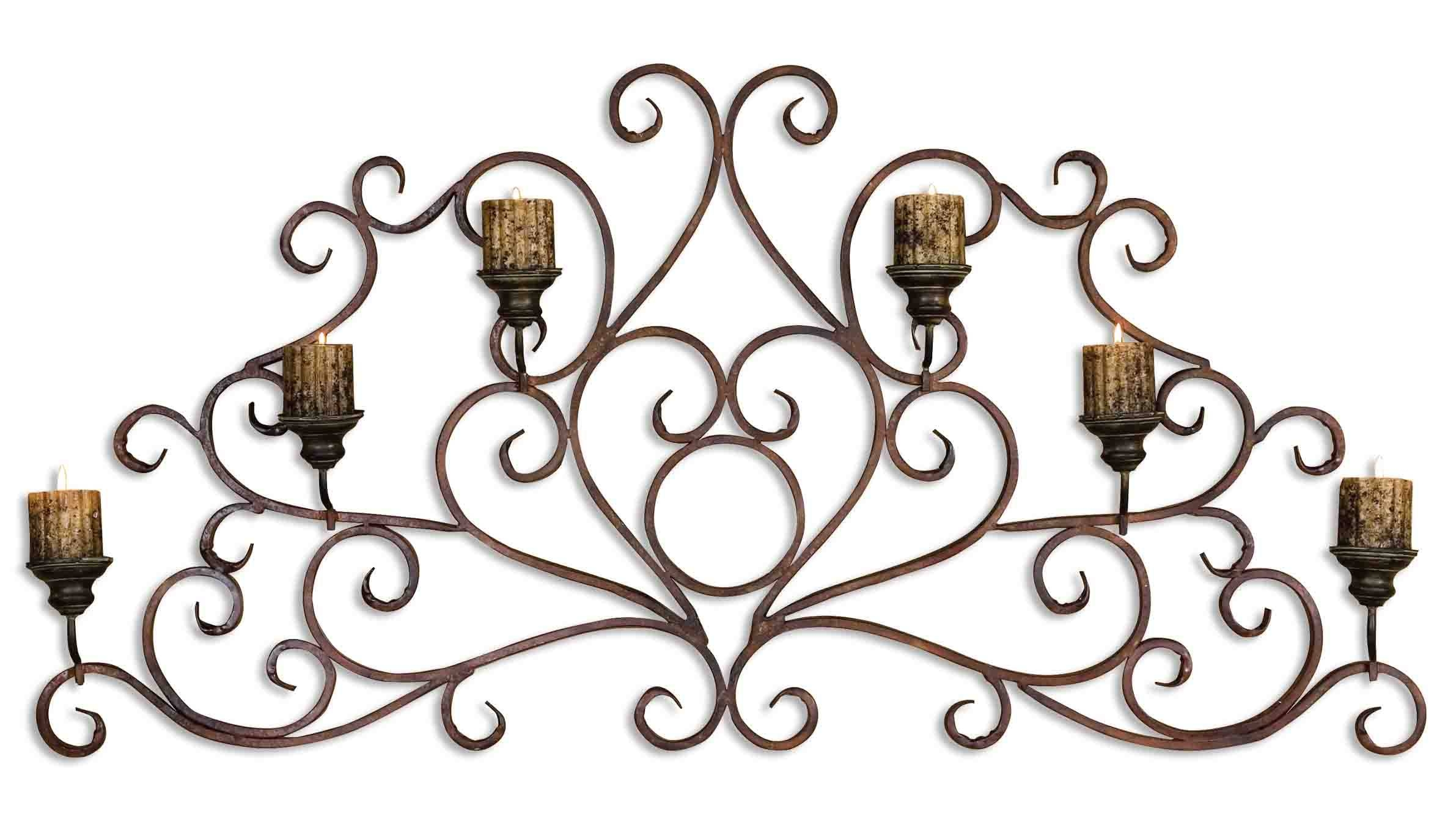 Uttermost Juliana Metal Wall Art Sconce 13446 Inside Current Metal Wall Art With Candles (View 12 of 20)