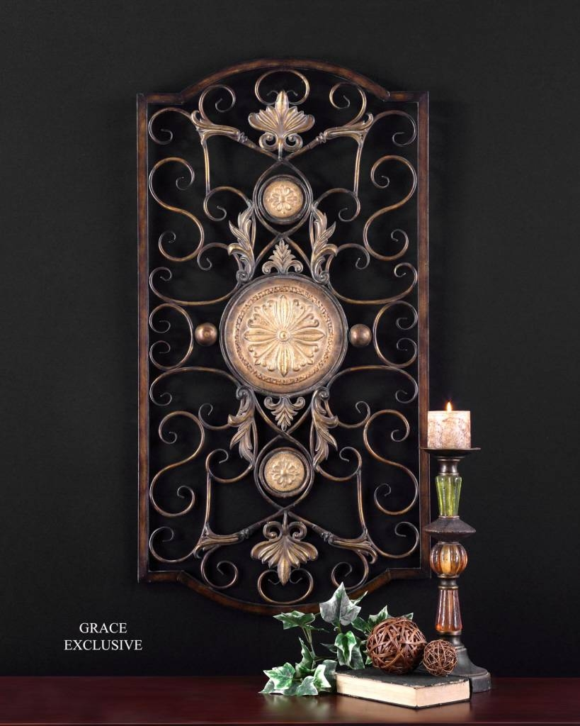 Uttermost Micayla Large Metal Wall Art 13476 Intended For Most Popular Embossed Metal Wall Art (Gallery 11 of 20)