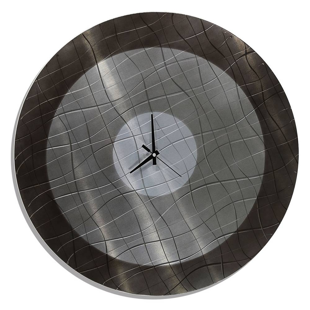 Vibrations In Charcoal – Functional Mid Century Modern Metal Wall Inside Most Popular Circle Metal Wall Art (View 12 of 20)
