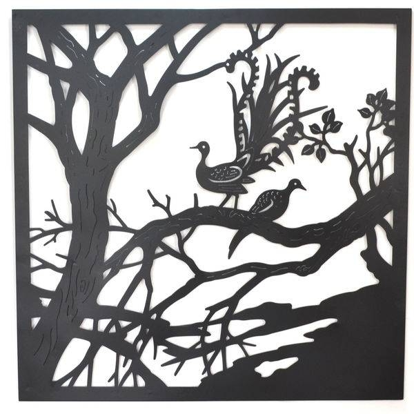 Village Reflections Lasercut Metal Wall Art 99cm In Recent Laser Cut Metal Wall Art (Gallery 17 of 20)
