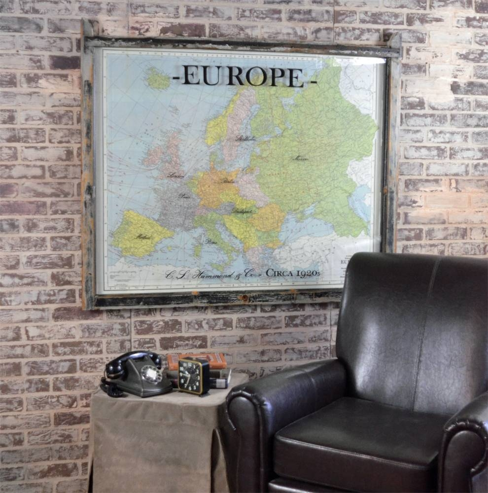 Vintage Map Of Europe Art – Vintage European Map 1920s With Best And Newest Europe Map Wall Art (View 4 of 20)