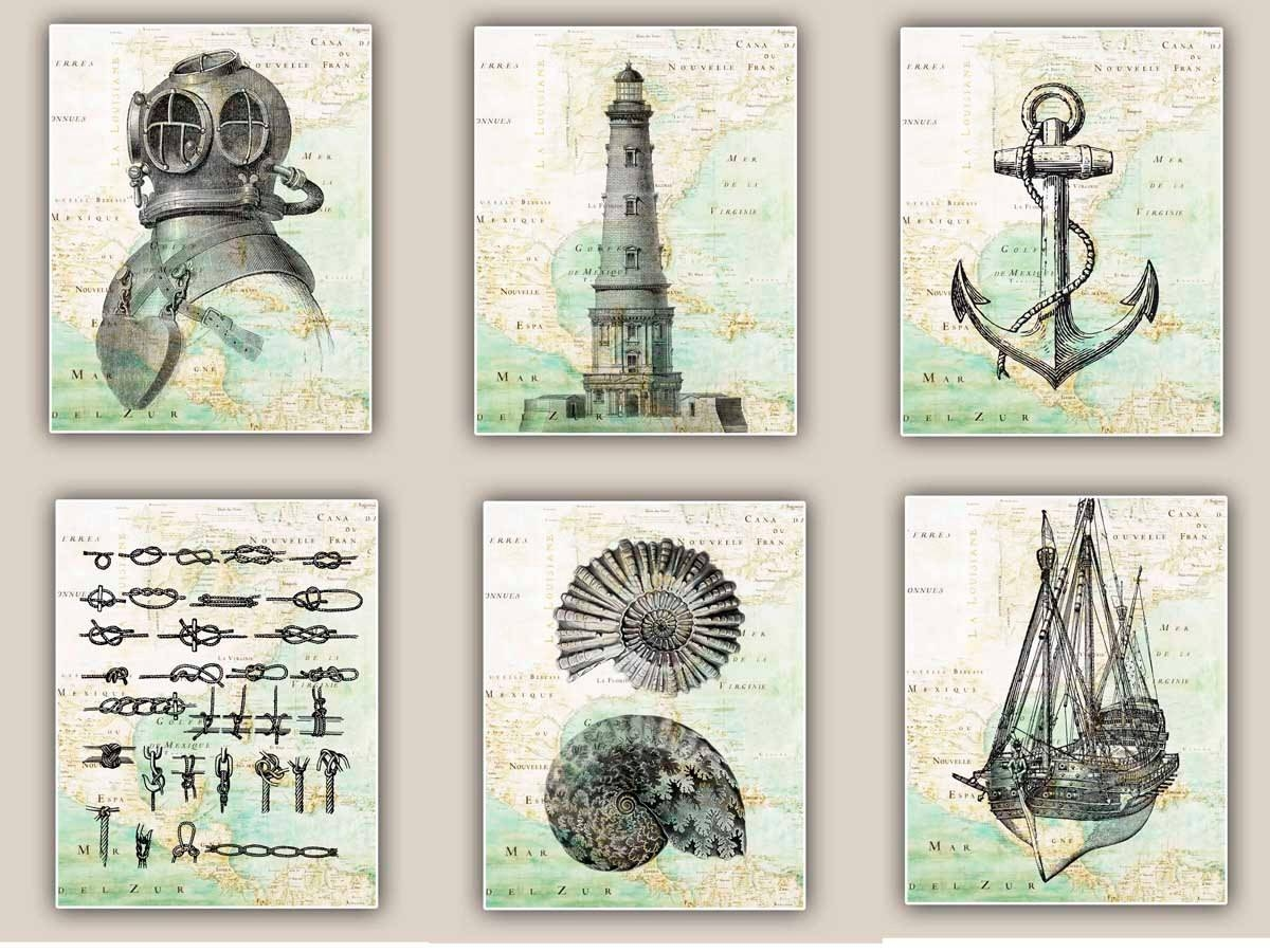 Vintage Nautical Wall Art | Home Design Ideas Pertaining To Best And Newest Nautical Map Wall Art (View 4 of 20)