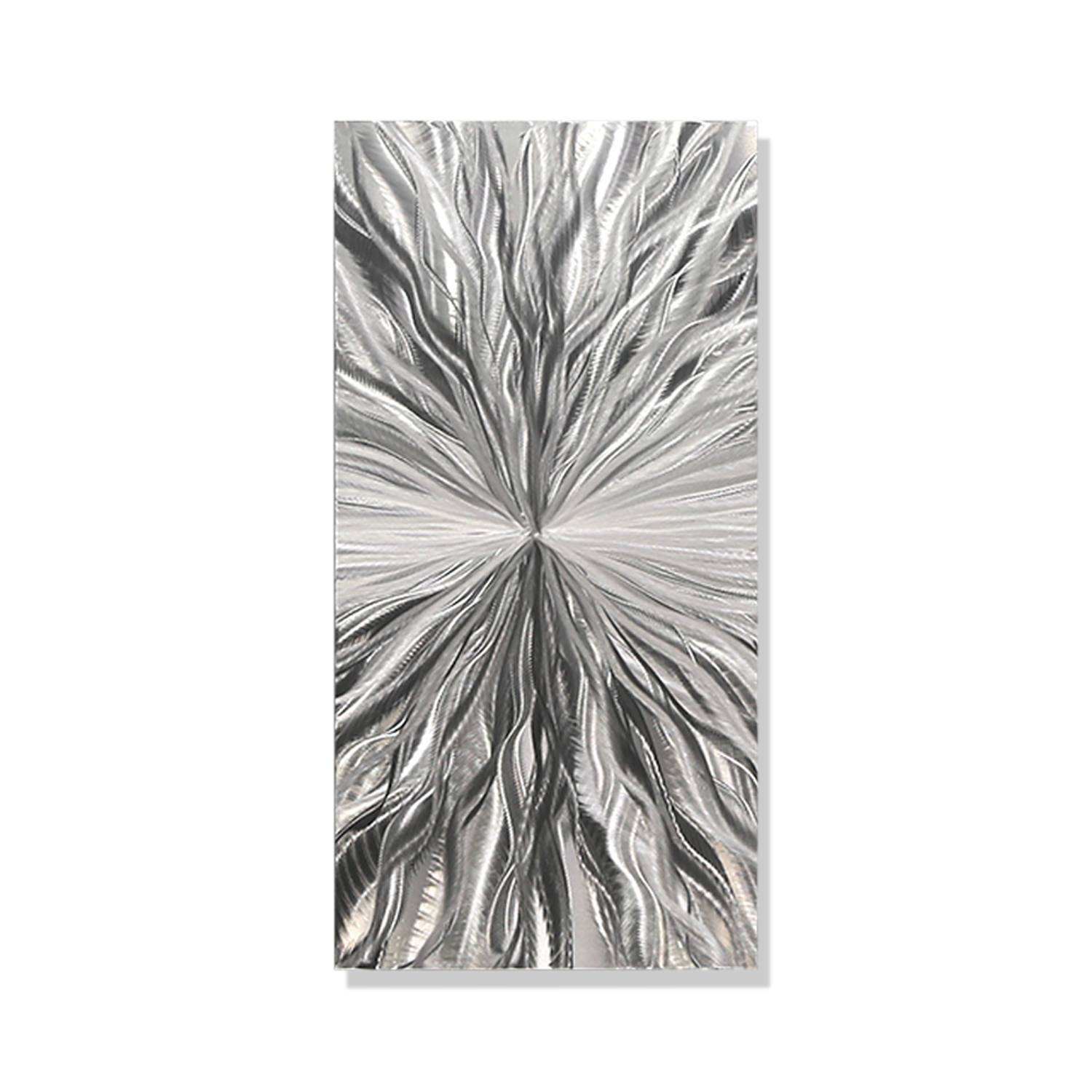 Vitality Solo - Silver Metal Wall Art - Single Panel Wall Décor regarding Most Up-to-Date Silver Metal Wall Art