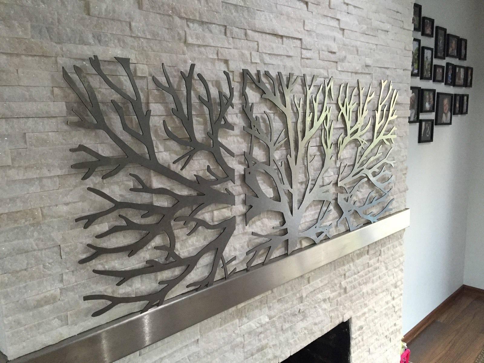 Wall Art 3d Metal Decor | Wallartideas With Latest 3d Metal Wall Art Sculptures (View 8 of 20)